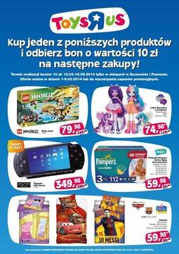 """Gazetka promocyjna Toys""""R""""Us, ważna od 01.03.2014 do 09.03.2014."""