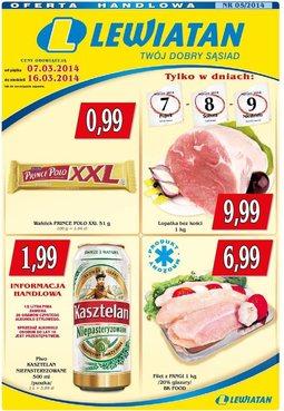 Gazetka promocyjna Lewiatan, ważna od 07.03.2014 do 16.03.2014.