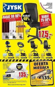 Gazetka promocyjna Jysk, ważna od 18.07.2013 do 31.07.2013.