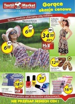 Gazetka promocyjna Textil Market, ważna od 20.06.2013 do 02.07.2013.