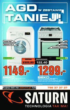 Gazetka promocyjna Saturn, ważna od 20.03.2014 do 26.03.2014.