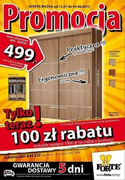 Gazetka promocyjna Forte, ważna od 12.07.2013 do 04.08.2013.