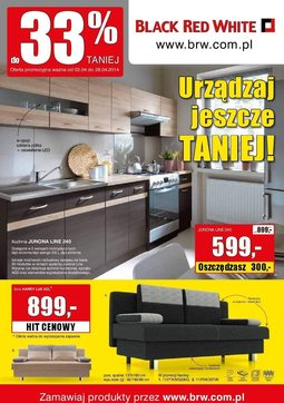 Gazetka promocyjna Black Red White, ważna od 02.04.2014 do 28.04.2014.