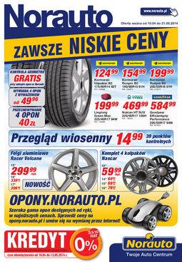 Gazetka promocyjna Norauto, ważna od 10.04.2014 do 21.05.2014.