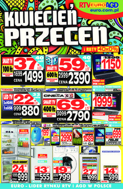 Gazetka promocyjna RTV EURO AGD, ważna od 10.04.2014 do 08.05.2014.
