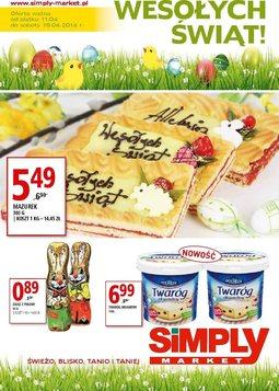 Gazetka promocyjna Simply Market, ważna od 11.04.2014 do 19.04.2014.