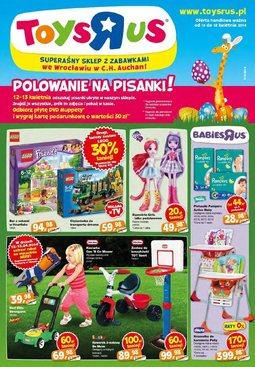 """Gazetka promocyjna Toys""""R""""Us, ważna od 10.04.2014 do 18.04.2014."""