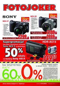 Gazetka promocyjna Fotojoker, ważna od 15.04.2014 do 28.04.2014.