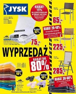 Gazetka promocyjna Jysk, ważna od 20.06.2013 do 26.06.2013.