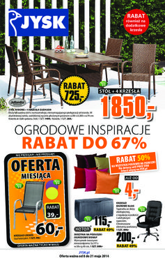 Gazetka promocyjna Jysk, ważna od 08.05.2014 do 21.05.2014.