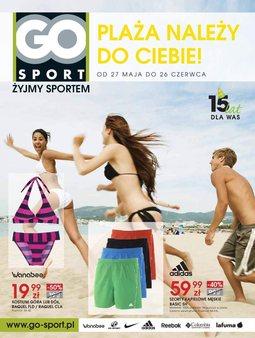 Gazetka promocyjna GO Sport, ważna od 27.05.2014 do 26.06.2014.