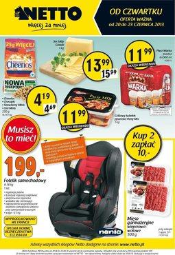 Gazetka promocyjna Netto, ważna od 20.06.2013 do 23.06.2013.