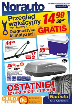 Gazetka promocyjna Norauto, ważna od 20.06.2014 do 30.07.2014.