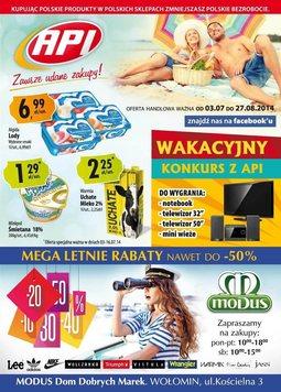 Gazetka promocyjna Api Market, ważna od 03.07.2014 do 27.08.2014.