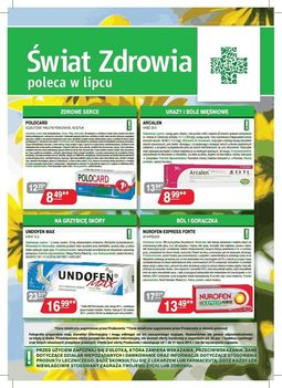 Gazetka promocyjna Świat Zdrowia, ważna od 01.07.2014 do 31.07.2014.