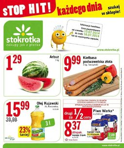Gazetka promocyjna Stokrotka, ważna od 10.07.2014 do 16.07.2014.