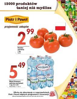 Gazetka promocyjna Piotr i Paweł, ważna od 23.07.2014 do 29.07.2014.