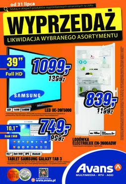 Gazetka promocyjna Avans, ważna od 31.07.2014 do 31.08.2014.