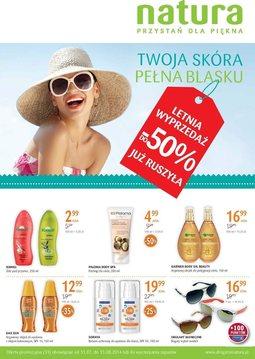 Gazetka promocyjna Drogerie Natura, ważna od 31.07.2014 do 13.08.2014.