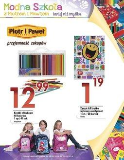 Gazetka promocyjna Piotr i Paweł, ważna od 06.08.2014 do 12.08.2014.