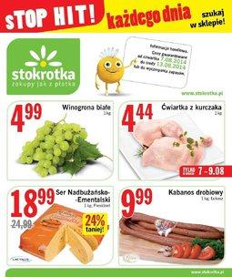 Gazetka promocyjna Stokrotka, ważna od 07.08.2014 do 13.08.2014.