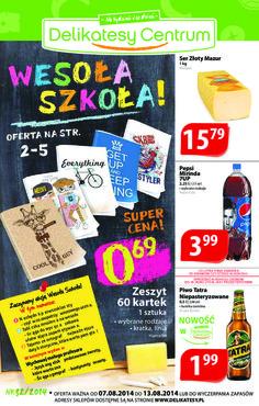 Gazetka promocyjna Delikatesy Centrum, ważna od 07.08.2014 do 13.08.2014.