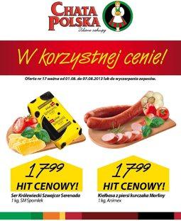 Gazetka promocyjna Chata Polska, ważna od 01.08.2013 do 07.08.2013.