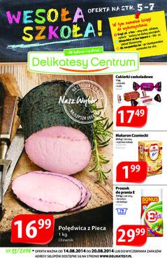 Gazetka promocyjna Delikatesy Centrum, ważna od 14.08.2014 do 20.08.2014.