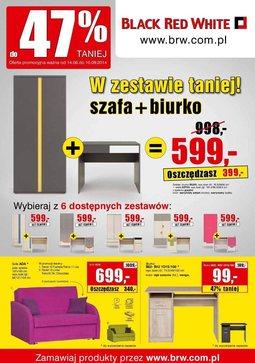 Gazetka promocyjna Black Red White, ważna od 14.08.2014 do 10.09.2014.