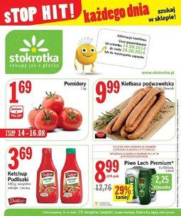 Gazetka promocyjna Stokrotka, ważna od 14.08.2014 do 20.08.2014.