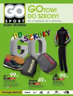Gazetka promocyjna Go Sport, ważna od 13.08.2014 do 09.09.2014.