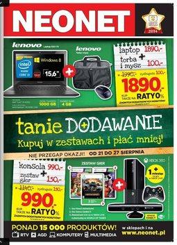 Gazetka promocyjna Neonet, ważna od 21.08.2014 do 27.08.2014.