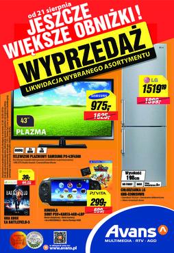 Gazetka promocyjna Avans, ważna od 21.08.2014 do 10.09.2014.