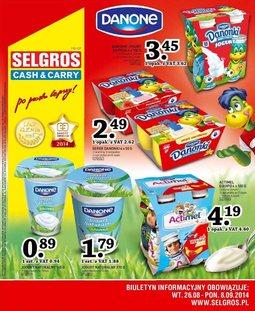 Gazetka promocyjna Selgros Cash&Carry, ważna od 26.08.2014 do 08.09.2014.