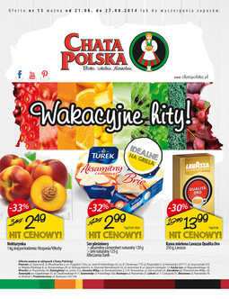 Gazetka promocyjna Chata Polska, ważna od 21.08.2014 do 27.08.2014.