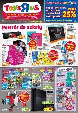 """Gazetka promocyjna Toys""""R""""Us, ważna od 21.08.2014 do 27.08.2014."""