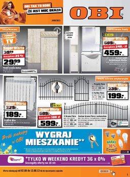 Gazetka promocyjna OBI, ważna od 02.08.2013 do 13.08.2013.