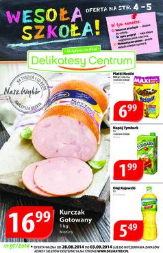 Gazetka promocyjna Delikatesy Centrum, ważna od 28.08.2014 do 03.09.2014.