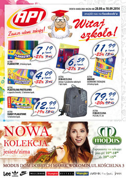 Gazetka promocyjna Api Market, ważna od 28.08.2014 do 10.09.2014.
