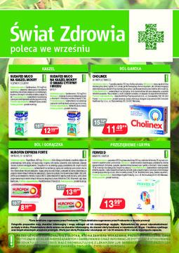 Gazetka promocyjna Świat Zdrowia, ważna od 01.09.2014 do 30.09.2014.