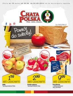 Gazetka promocyjna Chata Polska, ważna od 28.08.2014 do 03.09.2014.