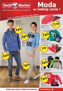 Gazetka promocyjna Textil Market, ważna od 04.09.2014 do 16.09.2014.
