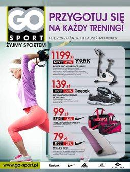 Gazetka promocyjna Go Sport, ważna od 09.09.2014 do 06.10.2014.