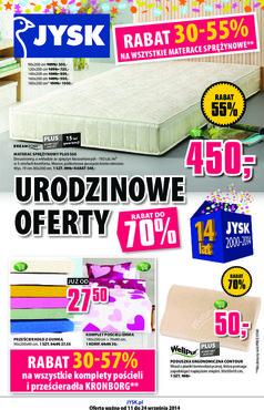 Gazetka promocyjna Jysk, ważna od 11.09.2014 do 24.09.2014.