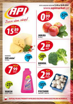 Gazetka promocyjna Api Market, ważna od 12.09.2014 do 18.09.2014.