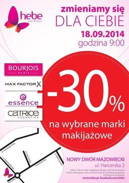 Gazetka promocyjna Hebe, ważna od 18.09.2014 do 24.09.2014.