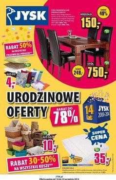 Gazetka promocyjna Jysk, ważna od 18.09.2014 do 24.09.2014.