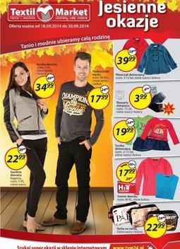 Gazetka promocyjna Textil Market, ważna od 18.09.2014 do 30.09.2014.