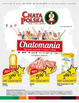 Gazetka promocyjna Chata Polska, ważna od 18.09.2014 do 24.09.2014.