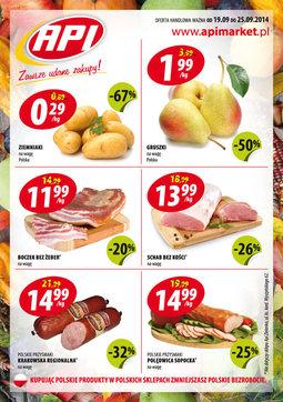 Gazetka promocyjna Api Market, ważna od 19.09.2014 do 25.09.2014.